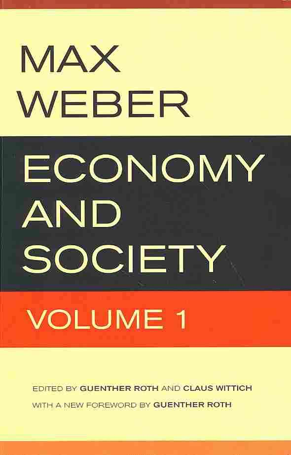 Economy and Society By Weber, Max